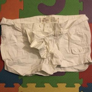 Hollister White Cargo Shorts